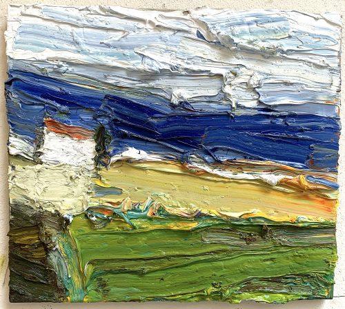 """Klaus Fußmann """"Landschaft mit Ostsee"""" 40 x 45cm"""