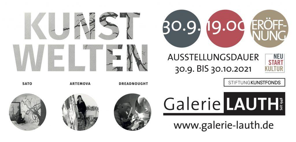 "Ankündigung Ausstellungseröffnung ""KUNSTWELTEN"" 30. SEPTEMBER"